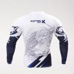 Рашгард Kayten Sport Дракон Белый (длинный рукав)