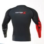Рашгард Kayten Sport Work Hard Красный (длинный рукав)