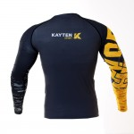 Рашгард Kayten Sport Work Hard Желтый (длинный рукав)