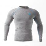 Рашгард Kayten Sport Melange Grey/Blue  (длинный рукав)