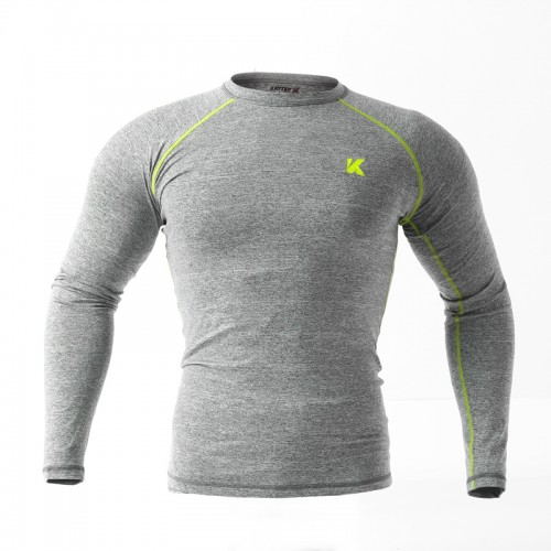 Рашгард Kayten Sport Melange Grey/Green (длинный рукав)