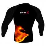 Рашгард Kayten Sport Лава с черным рукавом (длинный рукав)